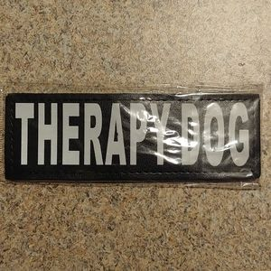 Large therapy dog velcro tags
